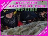 <h5>Hen Activities Westport Mayo</h5><p>Hen party group doing some hen activities in Westport Adventure Park</p>