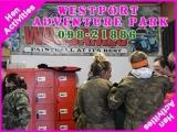 <h5>Hen Activities Ideas Ireland</h5><p>Hen party group doing some hen activities in Westport Adventure Park</p>