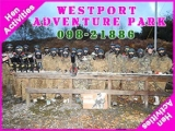 <h5>Westport Stag and Hen Activities</h5><p>Stag and Hen party groups doing some Stag and Hen activities in Westport Adventure Park</p>