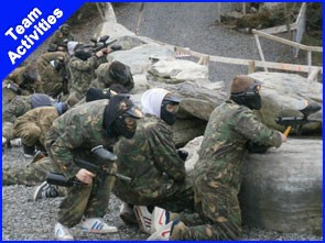 Paintball one of the Best Corporate team activities i Ireland