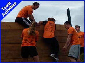 A team doing some of the best team building activities and best corporate team building activities in Ireland